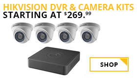 Hikvision DVR & Camera Kits Starting At $269.99